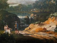 Exceptional Large 1700s Old Master Giltwood Landscape Oil on Canvas Painting (17 of 17)