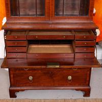 Secretaire Bureau Bookcase Astragal Glazed Mahogany (6 of 17)