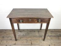 Georgian Oak Single Drawer Side Table (2 of 10)