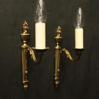French Pair of Single Arm Antique Wall Lights (7 of 10)