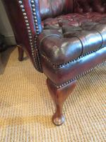 Antique Leather Chesterfield Wing Armchair (2 of 7)