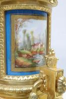 French Napoleon III Bronze Gilt and Porcelain Mantel Clock by Japy Freres (6 of 11)