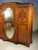 Fine Quality Early 20th Century Mahogany Breakfront Wardrobe (3 of 9)