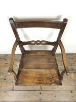 19th Century Welsh Oak Ball & Rail Back Chair (3 of 9)