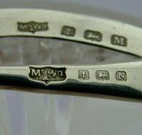 Art Deco English Solid Sterling Silver & Glass Butter Dish 1936 / 37 (12 of 12)