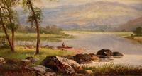 "Oil Painting by Albert Gyngell ""Rydal Water"" (4 of 5)"