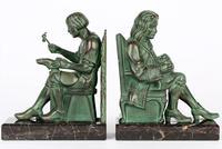 Max Le Verrier Pair Art Deco Patinated Bronze The Cobbler & The Financier Bookends (9 of 18)