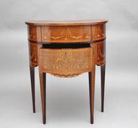 19th Century Mahogany Inlaid Side Table (5 of 11)