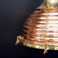 Original Large Copper Fluted Ships Cargo Light (5 of 8)