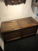 Carved Antique Coffer, English Oak Joined Chest, Trunk, c.1700 (4 of 8)