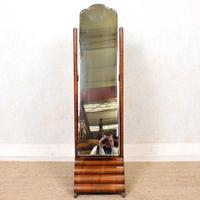 Art Deco Cheval Mirror Walnut (13 of 14)