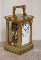 French Gilt Brass Carriage Clock (4 of 12)