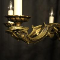 French Bronze 6 Light Antique Chandelier (9 of 10)