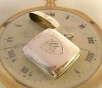 Antique Silver Vesta Case 1899 Victorian With Coat Of Arms Maker Hunsley & Co (3 of 9)