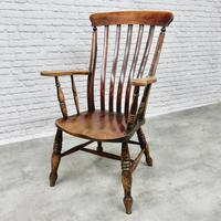 Large Windsor Lathback Armchair (4 of 6)