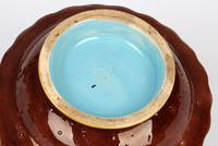 Minton Majolica Pottery Pedestal Chestnut Dish Dated 1867 (7 of 14)