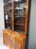 Tall George III Mahogany Cabinet Bookcase (10 of 13)