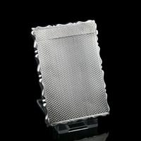 Antique Solid Silver Card Case with Engine Turned Design - George Unite 1876 (8 of 10)