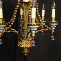 Florentine 6 Light Polychrome Antique Chandelier (3 of 10)