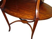 Edwardian Inlaid Mahogany Oval Occasional Table c.1910 (2 of 2)