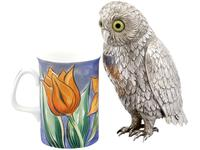 German Sterling Silver Table Owl - Antique c.1910 (2 of 12)