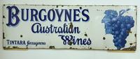 Rare Late Victorian Enamel Burgoynes Australian Wine Sign Extremely Large (7 of 10)
