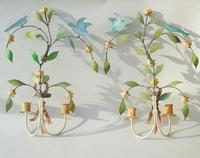 Pretty Pair of Vintage Metal Wall Sconce (2 of 6)