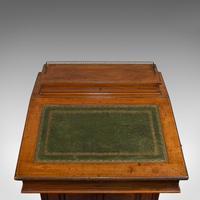 Antique Davenport, English, Walnut, Bird's Eye Maple, Writing Desk, Victorian (11 of 12)
