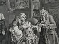 William Hogarth, Marriage-A-La-Mode, Plate 6, Engraved 1745, Original print (3 of 6)