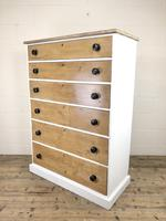 Victorian Pine Tall Chest of Drawers (8 of 9)