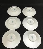 Beautiful Set of 6 Victorian Coalport Floral Decorated Coffee Cans & Saucers (6 of 7)