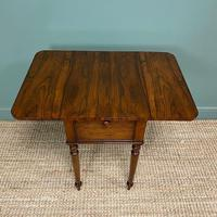 Rare Regency Rosewood Small Antique Pembroke Table (2 of 7)