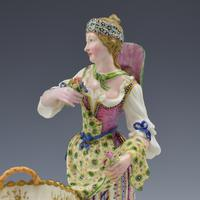 Fine Pair Minton Porcelain Sweetmeat Figures with Baskets Models 84 & 85 c.1830 (14 of 23)