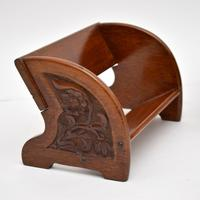 Pair of Antique Arts & Crafts Mahogany Book Trough / Stands (2 of 10)
