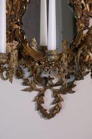 19th Century French Brass Girandole & Grape Vine Sconces (8 of 10)