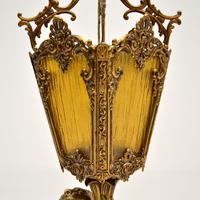 Antique French Gilt Metal & Glass Cherub Table Lamp (10 of 12)