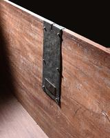 Imposing 17th Century Portuguese Colonial Mahogany & Brass Chest (4 of 8)