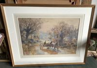 Ernest Pile Bucknall Watercolour' crossing the ford' (2 of 3)