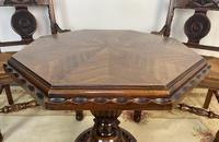 Antique Breton Side Table with Rush Seats (5 of 15)