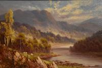 "Oil Painting Pair by Sidney Yates Johnson ""Morning & Evening in the Highlands"" (6 of 7)"
