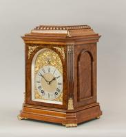 Fine Quality Burr Walnut Bracket / Mantel Clock By Lenzkirch (5 of 11)