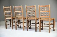 4 Country Spindle Back & Rush Chairs (10 of 11)