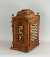 Fine Quality Burr Walnut Bracket / Mantel Clock by Lenzkirch (6 of 15)