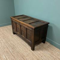17th Century Period Oak Antique Carved Coffer (6 of 8)