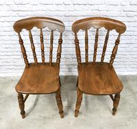 Pair of Windsor Spindleback Kitchen Chairs (3 of 5)