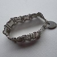 Sterling Silver Chunky Heart Padlock Bracelet (3 of 5)