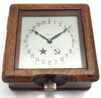 Original Ships Submarine Clock 8-day Military Soviet Union Bulk Head Clock
