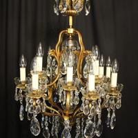 French Gilded Bronze 17 Light Crystal Chandelier (7 of 10)