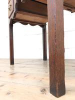 19th Century Oak Side Table (6 of 8)