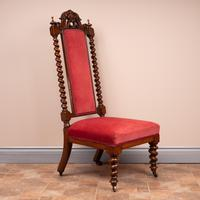 19th Century Walnut Barley Twist Prie Dieu Chair (3 of 15)